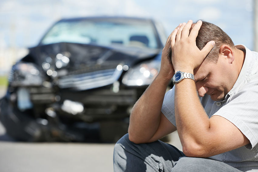 Man after car accident in 20120